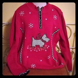 Christopher & Banks Sweaters - Ugly Christmas sweater Scottish terrier